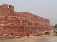 Rampart of Agra Fort