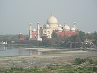 Taj and Jamuna river