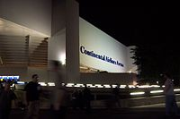 In 1996, Continental Airlines purchased naming rights to the Brendan Byrne Arena. This picture shows the arena's signage under that name.