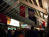 The arena's concourse in 2007, while it was known as Continental Airlines Arena