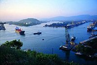 The city of Visakhapatnam in India is a major port of the Bay of Bengal.