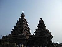 The Shore Temple, a UNESCO World Heritage Site on the shore of the Bay of Bengal.
