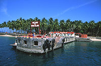 Ross Island, in the Andamans, was one of the main naval bases of India during World War II
