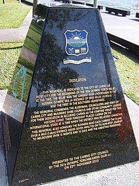Torch relay monument, Cairns