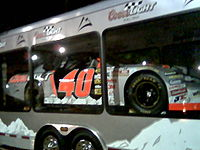 The No. 40 car in 2006, in the silver Coors Light paint scheme