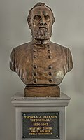 Bust of Jackson at the Washington-Wilkes Historical Museum