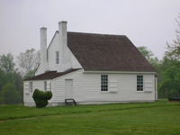 The plantation office building where Stonewall Jackson died in Guinea Station, Virginia
