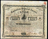 Confederate Loan from March 2, 1863, Vignette with Jackson