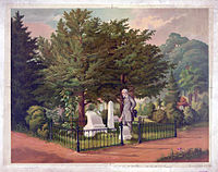 General Lee's Last Visit to Stonewall Jackson's Grave, painting by Louis Eckhardt, 1872