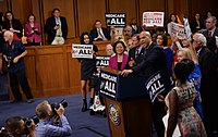 Booker speaks in 2017 in favor a single-payer healthcare system
