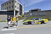 Braden's No. 01 late model on the campus of West Virginia University