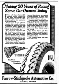 Barney Oldfield tire ad from 1922