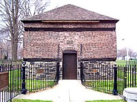 Fort Pitt Blockhouse, built by the British in 1764, oldest extant structure in Pittsburgh