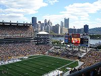 Heinz Field, home of the Pittsburgh Steelers and the Pittsburgh Panthers (football)