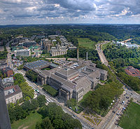 The Carnegie Library, Museums of Art and Natural History (foreground), Carnegie Mellon University (background)