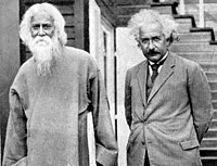 Einstein (right) with writer, musician and Nobel laureate Rabindranath Tagore, 1930