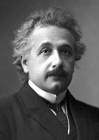 Einstein's official portrait after receiving the 1921 Nobel Prize in Physics