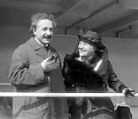 Einstein with his second wife, Elsa, in 1921