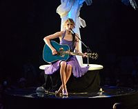 Swift performing on the album's supporting tour