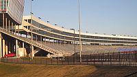 A glimpse of the Texas Motor Speedway stadium before the crowds arrive.