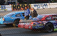 Trickle (right) at the 2009 Dick Trickle 99