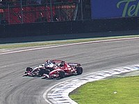 Schumacher overtakes Kimi Räikkönen for 4th with three laps to go of his final race for three years at Interlagos, having dropped to 19th early on
