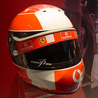 Schuberth helmet for the 2002 season (Ferrari); At the 2001 Malaysian Grand Prix, Schumacher switched his helmet from Bell to Schuberth though there was a contract with Bell for the 2001 season. From the 2001 season, Schumacher continued to use the Schuberth helmet until his last race in Formula One.