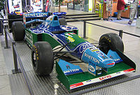Schumacher drove the Benetton B194 to his first World Championship in 1994.