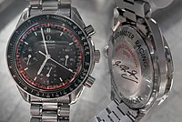 Schumacher was an advertising partner for watchmaker Omega. When he won his third title in 2000, which was the first with Ferrari, the Speedmaster Racing was issued in a Schumacher Edition having his signature on the back.