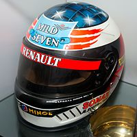 Bell helmet for the 1995 season (Benetton); Schumacher even kept using this white-coloured helmet after moving to Ferrari in {{f1|1996}} until he switched its colour to red at the 2000 Monaco Grand Prix.