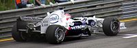 """BMW Sauber with """"Thanks Michael"""" messages towards Michael Schumacher on the back of their cars, Schumacher and Peter Sauber worked together in sports cars before entering F1 in 1992"""