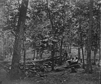 Union breastworks on Culp's Hill