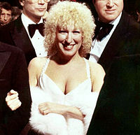 Midler at the premiere of her feature-film starring debut, The Rose, in 1979