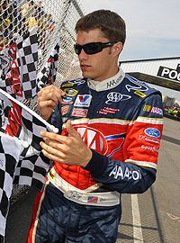 David Ragan led nine laps of the race, and finished third.