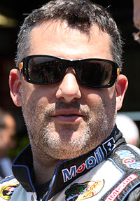 Tony Stewart (pictured in 2015) won his first race of the season.
