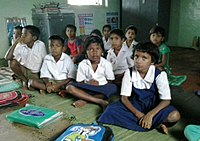 Students at a state-run primary school in Raigad district.