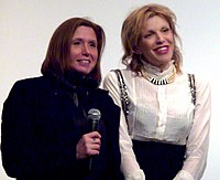 Love with Patty Schemel (left) at the premiere of Hit So Hard at the Museum of Modern Art, 2011