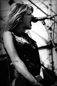 Love performing with Hole at Big Day Out, Melbourne, 1995