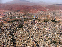 Aerial view of northeast Tabriz, May 2012