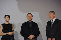Rooney Mara, Daniel Craig and Fincher at the premiere of The Girl with the Dragon Tattoo.