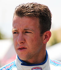 A. J. Allmendinger (pictured in 2015) won the pole position, after having the fastest time of 30.683 seconds.