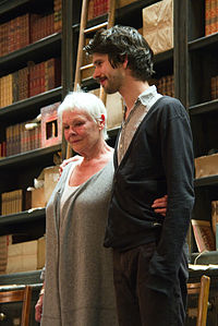 Dench with Skyfall co-star Ben Whishaw at the Noël Coward Theatre in May 2013