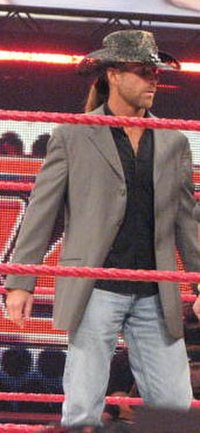 Michaels (pictured here in 2008) was the WWF Commissioner in 1998