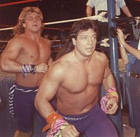 Michaels (left) with Marty Jannetty during their time as The Rockers