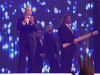 Michaels at WrestleMania XXVII, with other 2011 WWE Hall of Fame inductees