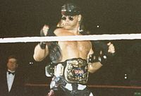 Michaels as WWF Tag Team Champion during his reign with Diesel