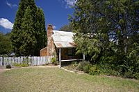 Blundells Cottage, built around 1860, is one of the few remaining buildings built by the first white settlers of Canberra.