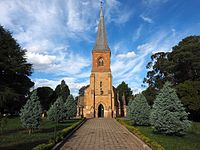 St John's Anglican Church, the oldest surviving public building in the inner city, consecrated in 1845
