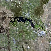 The Canberra region seen from space