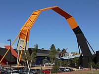The National Museum of Australia established in 2001 records Australia's social history and is one of Canberra's more architecturally daring buildings.